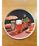 """Vintage Ballantine Ale 12"""" Round Beer Tray Plastic With Photo Bottle Can... - $29.69"""