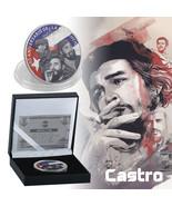 WR Silver Plated Fidel Castro Commemorative Coin in Box Souvenir Token N... - $9.98
