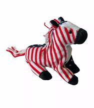 """Vtg Ty Beanie Baby Lefty 2000 Democrat Red White Blue Donkey Plush 6"""" Us... - $10.88"""