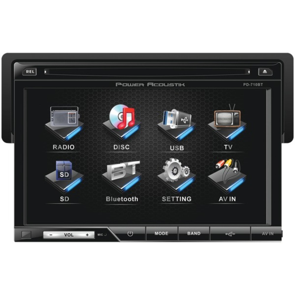 "Primary image for Power Acoustik PD-710B 7"" Single-DIN In-Dash LCD Touchscreen DVD Receiver with D"