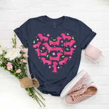 Dachshund Heart Valentines Day Dog Mom T- Shirt Birthday Funny Ideas Gif... - $15.99+