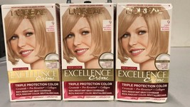 L'Oreal Excellence Creme, # 9 Light Natural Blonde 3 Pack, Free Shipping - $31.67