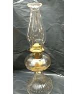 Vintage P&A Risdon Mfg Co Heavy Clear Glass Oil Lamp With Eagle Burner - $49.99