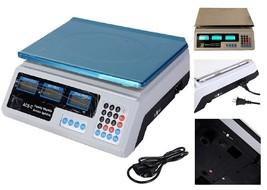 Waterproof Weighing Platform Scale Weight Price Computing Retail Food Me... - $49.40