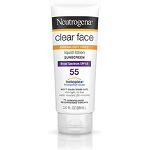 Neutrogena Clear Face Liquid Lotion Sunscreen For Acne-Prone Skin Broad Spectrum - $23.95