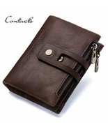 Contacts® New Arrival Genuine Leather Men's Wallet For Men Small Zipper - $29.43