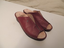 Finn Comfort Slip On Shoe Sandals Germany Brown Women's Size 4 1/2 VGUC Leather - $36.00