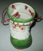 Ceramic Santa boot shaped candy dish bag - $5.00