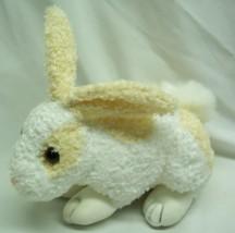 "Wal-Mart CUTE WHITE & YELLOW BUNNY RABBIT 7"" Bean Bag STUFFED ANIMAL Toy - $14.85"