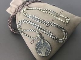 """David Yurman Sterling Silver Shipwreck Coin Amulet, 22MM Pendant with 22"""" Chain - $349.99"""