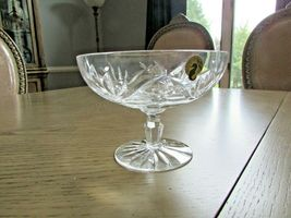 """WATERFORD CRYSTAL PEDESTAL COMPOTE 6.25""""W SIGNED BY JIM O'LEARY  - $54.40"""