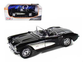 1957 Chevrolet Corvette Black 1/18 Diecast Model Car by Maisto - $53.18