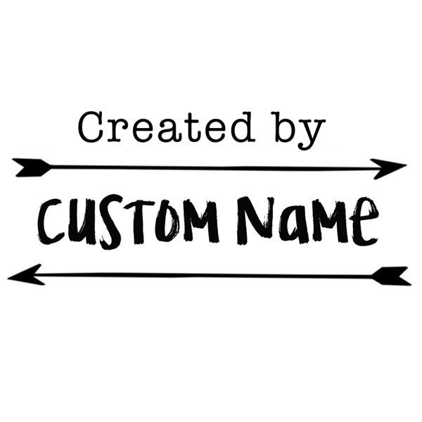 custom name arrow design created by personalized pre ink self inking stamp 2""