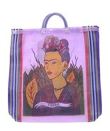 #124 Shopping Frida Kahlo Market Tote Bag Mexico Fair Trade Market Sack ... - $7.89