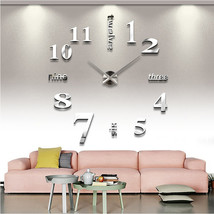 3D  Quartz Giant Designer Wall Clock - $59.95