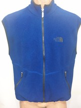 The North Face Mens L Royal Blue Fleece Vest Made in USA - $47.53