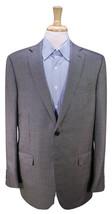 * ERMENEGILDO ZEGNA * Current Black/Silver Woven Wool-Silk 2-Btn Sportco... - $192.50