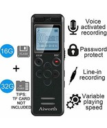 16GB Digital Voice Activated Recorder- 1160 Hours Voice Activated Recorder - $61.37