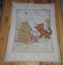 Winnie The Pooh Baby Quilt Comforter Blanket Piglet Tigger Butterfly Nursery - $49.49