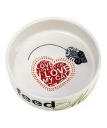 "5"" Ceramic Feed Me Love Me Cat Dish - ₹772.98 INR"