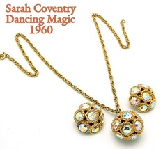 Sarah Coventry Necklace Earrings DANCING MAGIC 60s AB Disco Ball Hostess... - $79.95