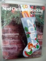 "BERNAT VINTAGE 1977 NOEL CHRISTMAS STOCKING 18"" Sixpoint Christmas Kit #... - $55.00"