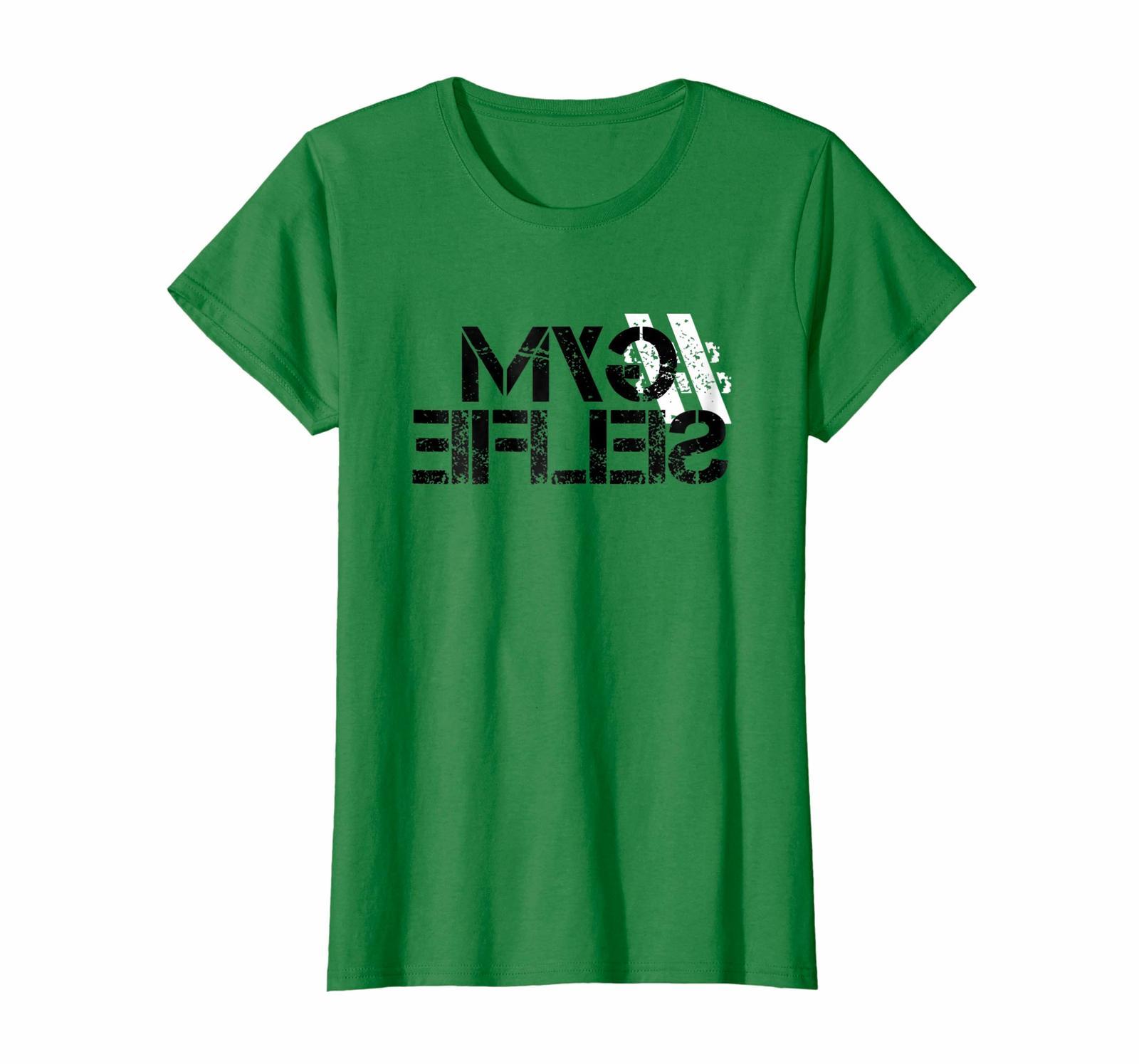 Funny Tee - Hashtag Gym Selfie T-Shirt - Trendy Social Media Tee Wowen