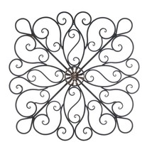 Decorative Metal Wall Decor, Rustic Scrollwork Wrought Iron Wall Decorat... - €111,19 EUR