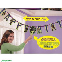 TMNT Teenage Mutant Ninja Turtle Jumbo Happy Birthday Banner Party Supplies New image 2