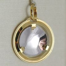 Pendant Yellow Gold Medal White 750 18k, Madonna and Christ, Mary and Jesus image 3
