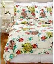 Sferra Hydrangea King Duvet Cover Shams 3 PC Set 300TC Cotton Sateen Floral New - $359.90