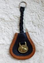Genuine Vintage Leather Dooney & Bourke Key Chain/Fob Brass Duck
