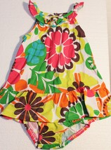 Carters Girls 6 Mo 6mo Infant Flower 2 Piece Play Set Bloomers Top Outfit - $13.85