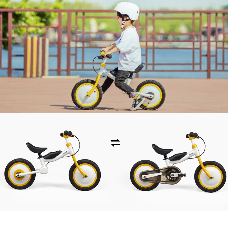 Xiaomi QICYCLE Bike Tricycle Scooter 12  for Children Yellow Color Slide Bicycle