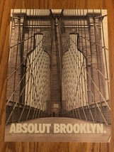 Absolut Brooklyn Original Magazine Ad - $2.99