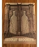 Absolut Brooklyn Original Magazine Ad - $2.99