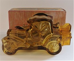 Avon Packard Roadster Auto Car Cologne Glass Bottle Yellow Gold Empty in... - $19.80