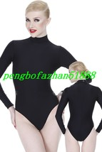 Black Lycra Spandex Short Suit Catsuit Costumes Unisex Short Body Suit S843 - $32.99