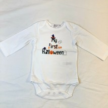 Childrens Place White 1pc My 1st Halloween Bodysuit 0-3M Snap Cotton NWT - $12.62