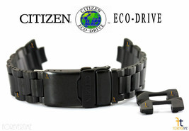Citizen Eco-Drive AT4117-56H Black Ion-Plated Stainless Steel Watch Band... - $174.11