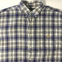 Lauren Ralph Lauren Button Front Plaid S/S Shirt 100% Cotton Men Adult S... - $13.99