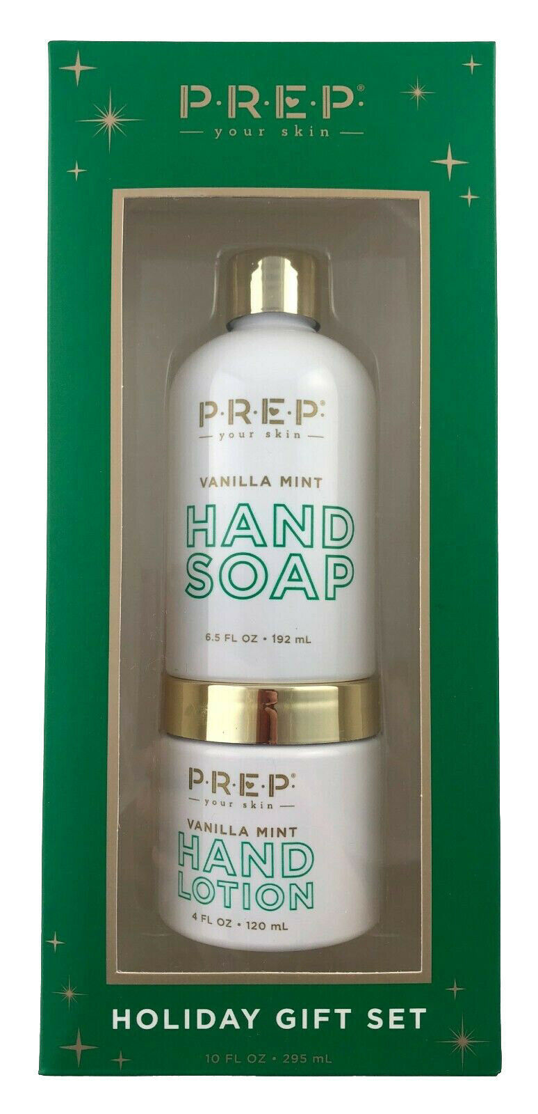 New PREP Your Skin Vanilla Mint Hand Soap And Lotion Holiday Gift Set 10.5 Fl Oz