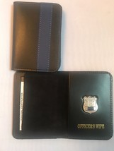 NY Police Officer Thin Blue Line Officer Wife Mini Shield  ID Wallet - $22.28