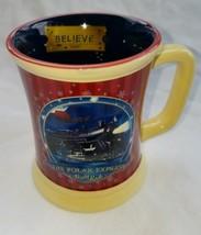 The Polar Express Believe Train Ride Hot Chocolate Mug Cup Warner Bros - $5.78
