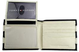 Tommy Hilfiger Men's Leather Wallet Passcase Billfold Navy Bone 31TL22X040 image 5