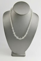 """18"""" ESTATE VINTAGE Jewelry LEADED GLASS CRYSTAL BICONE BEAD NECKLACE ON ... - $15.00"""