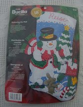 New Bucilla Christmas Stocking Kit DELIVERING THE MAIL -Circa 2004 -  18 inch Fe - $34.99