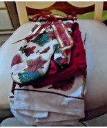 Fall leaf theme oven mitt and 4 dish towels  - new - nice gift set - $17.50