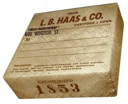 L B Haas Box Shaped Mailing Label Connecticut Tobacco Company - $29.67