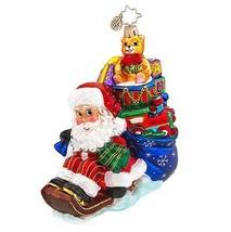 Christopher Radko Glass Wee Jolly Sleigh Ride Santa Christmas Ornament #... - $57.42